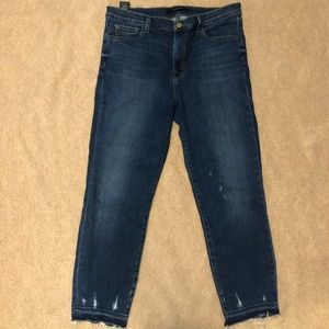 J Brand distressed straight-leg jeans (31)